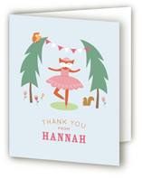 Woodland Ballerina Childrens Birthday Party Thank You Cards