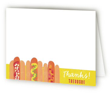 HOTDOG! Children's Birthday Party Thank You Cards