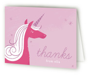 Sweet Unicorn Children's Birthday Party Thank You Cards
