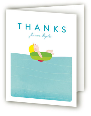 Pool Children's Birthday Party Thank You Cards