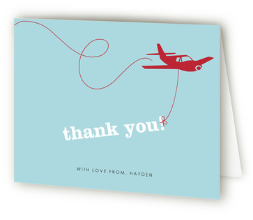The Birthday Plane Children's Birthday Party Thank You Cards