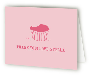 Littlest Cupcake Children's Birthday Party Thank You Cards