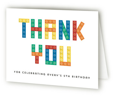 Block Party Children's Birthday Party Thank You Cards