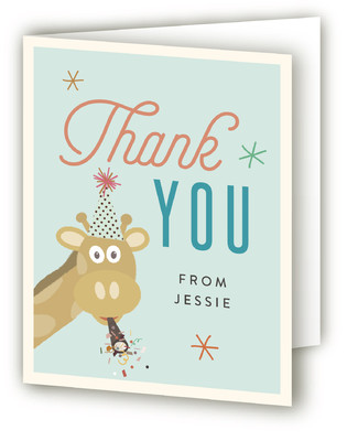Jungle Party Children's Birthday Party Thank You Cards
