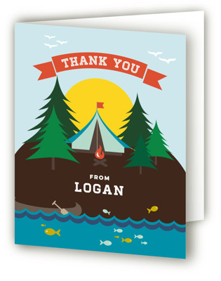 Little Scout Children's Birthday Party Thank You Cards