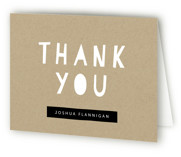 Cardboard Box Childrens Birthday Party Thank You Cards
