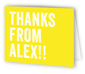Head Bang Children's Birthday Party Thank You Cards
