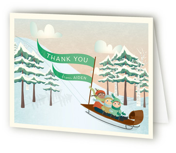 Winterfest Children's Birthday Party Thank You Cards