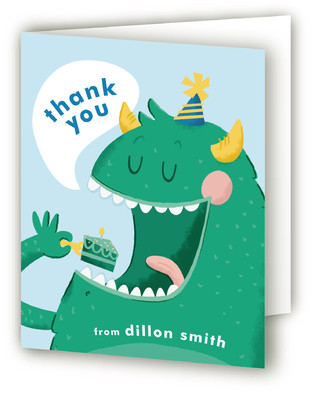 Party Monster Children's Birthday Party Thank You Cards
