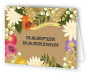 Floral Canopy Childrens Birthday Party Thank You Cards