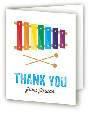 Musical Instruments Children's Birthday Party Thank You Cards