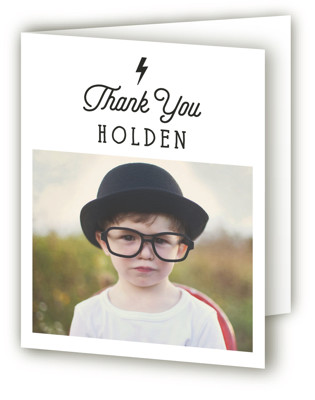 Striking Children's Birthday Party Thank You Cards
