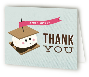 S'more-gasborg Children's Birthday Party Thank You Cards