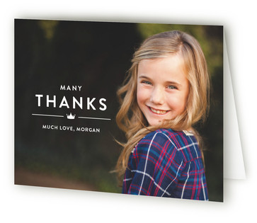 Modern Block Children's Birthday Party Thank You Cards