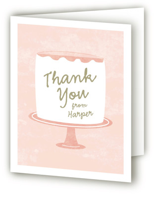 Frosting Children's Birthday Party Thank You Cards