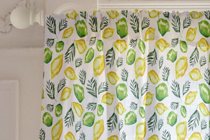 Citrus sage curtains
