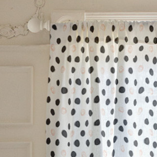 Modern Rebelling Polka Curtains