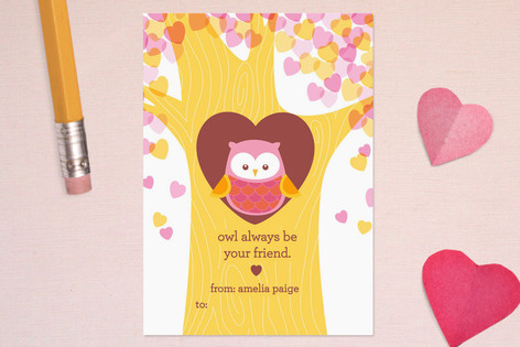 Owl Be Your Friend Classroom Valentine's Cards