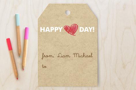 Crayon Heart Classroom Valentine's Cards