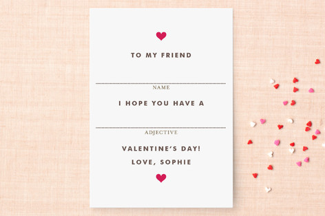 Fill in the Blank Classroom Valentine's Cards