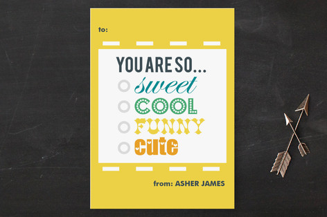 You are so.... Classroom Valentine's Cards