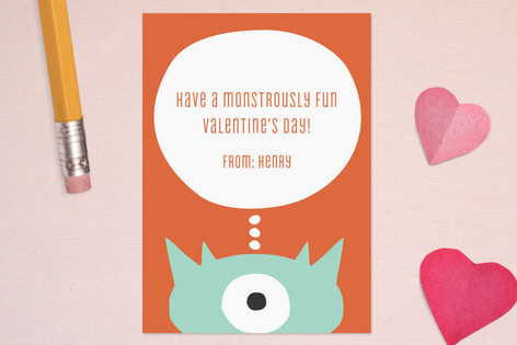 Little Monster Classroom Valentine's Cards