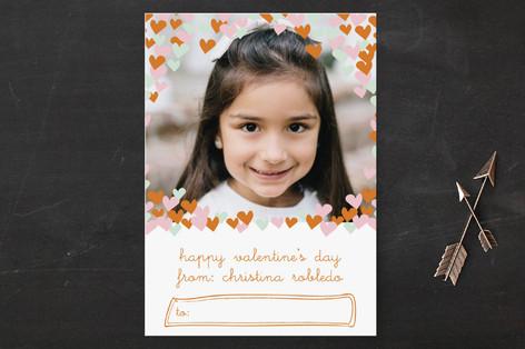confetti hearts Classroom Valentine's Cards