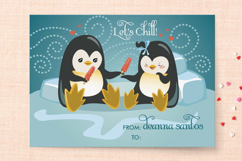 Let's Chill Classroom Valentine's Cards