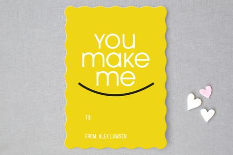 You make me smile Classroom Valentine's Cards