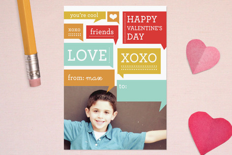 Chatter Boy Classroom Valentine's Cards