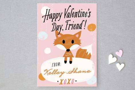 Fox Friend Classroom Valentine's Cards