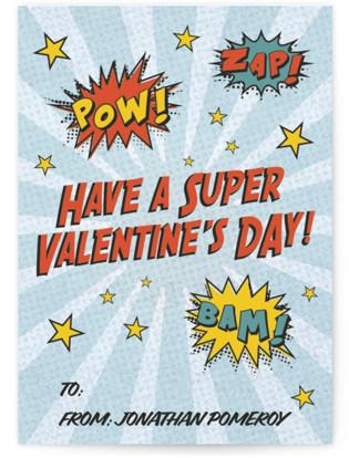 superhero Classroom Valentine's Day Cards