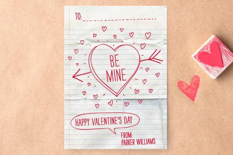 Handwritten Love Note Classroom Valentine's Cards