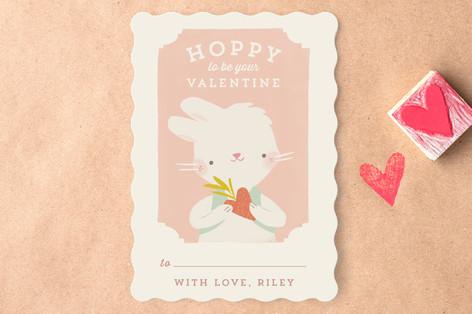 Valentine Zoo Bunny Classroom Valentine's Cards