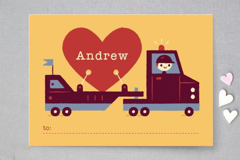 Big Heart Truckin' Classroom Valentine's Cards