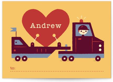 Big Heart Truckin' Classroom Valentine's Day Cards