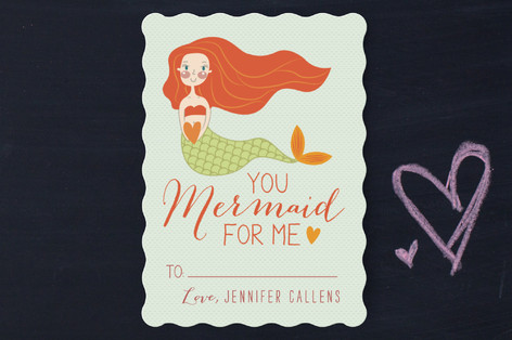 Mermaid For Me Classroom Valentine's Cards