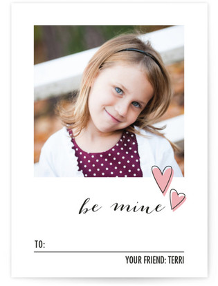 Photo & Floating Hearts Classroom Valentine's Day Cards