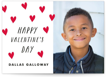 Scattered Hearts Classroom Valentine's Day Cards