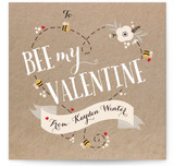 Bee My Valentine Heart