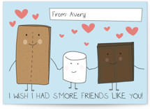S'more Friends Like You Classroom Valentine's Cards