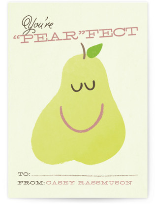 A Pear-Fect Valentine Classroom Valentine's Day Cards