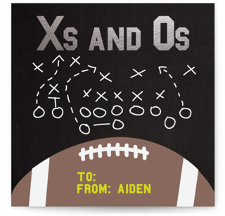 X's and O's Strategy Classroom Valentine's Day Cards