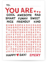 Wonderful Words Classroom Valentine's Cards