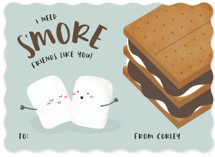 s'more friends Classroom Valentine's Cards