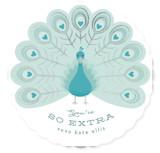 Peacock Foil Valentine Cards