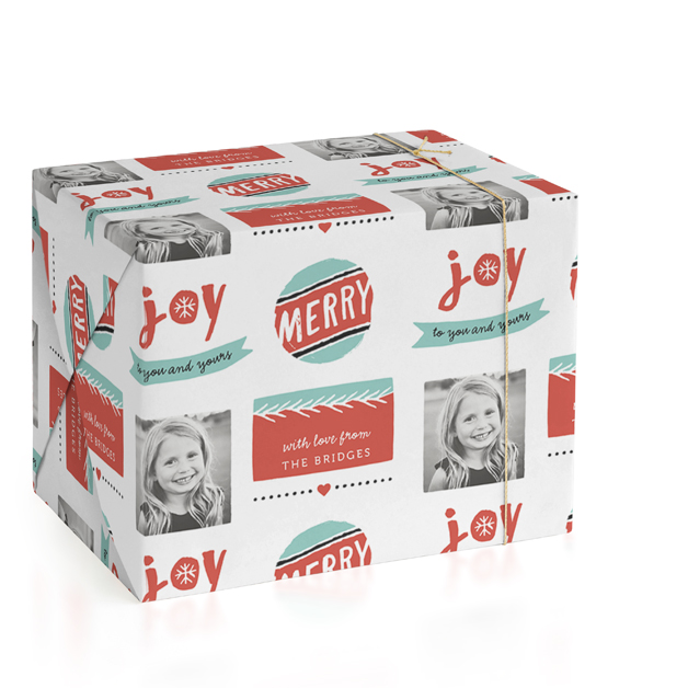 Joy Personalized Wrapping Paper