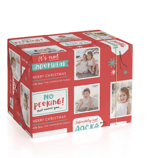 No Peeking Personalized Wrapping Paper