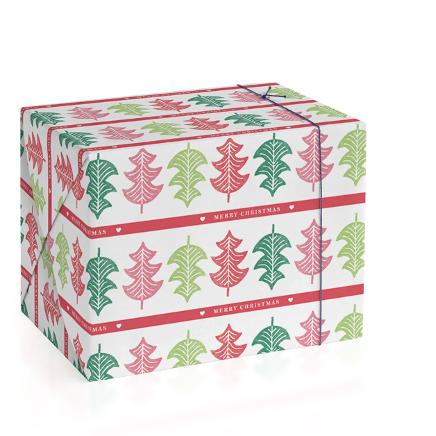 Printed Pines Personalized Wrapping Paper