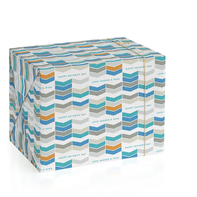 Weathered Chevron Personalized Wrapping Paper